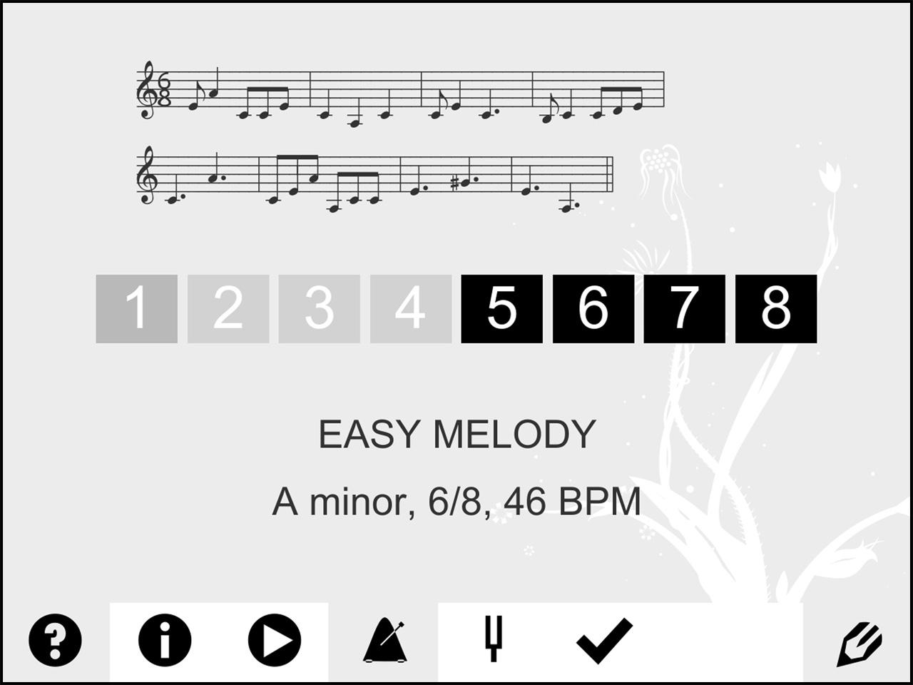 Screenshot di meloDicts (versione 2.2 per iPad)