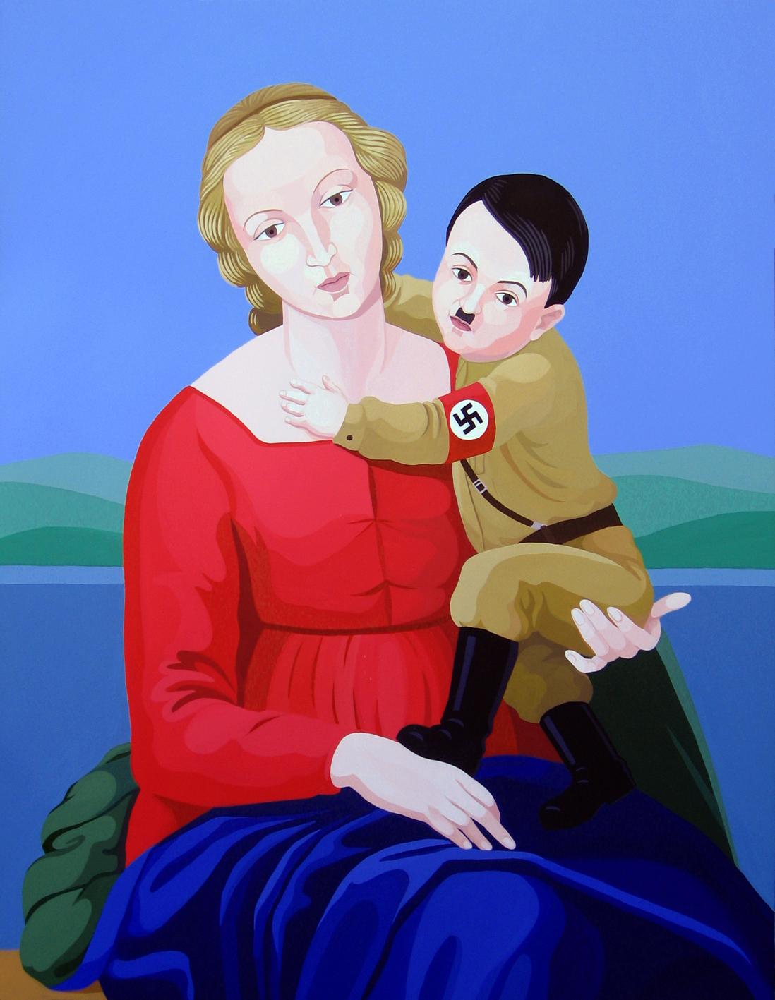 """Giuseppe Veneziano, """"La Madonna del Terzo Reich"""" (2009)."""