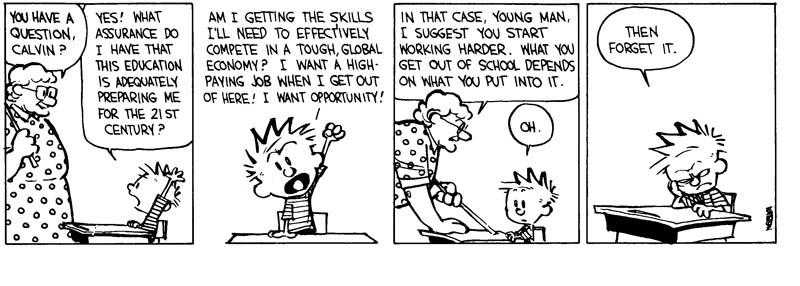Calvin & Hobbes, insuperabile.