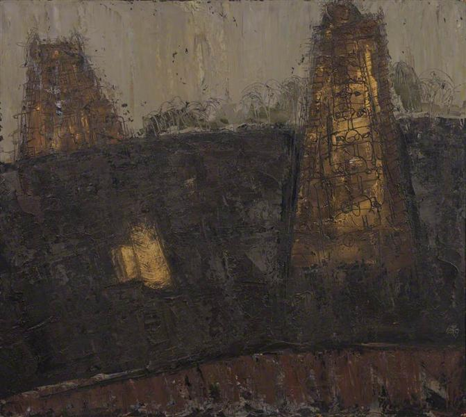 William Congdon - India, Temples No.1 (1954).