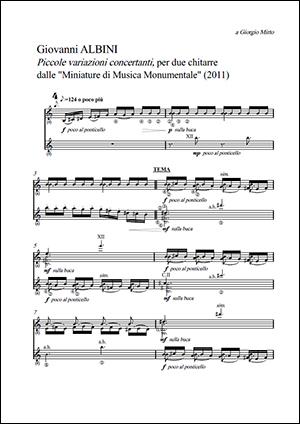 Albini - Piccole Variazioni Concertanti